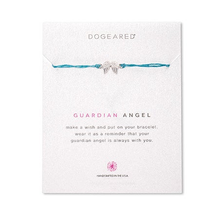 Dogeared Guardian Angel Irish Linen Bracelet | Eve's Addiction®