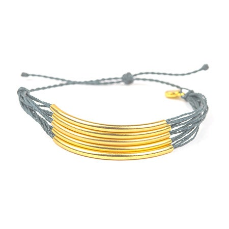 Pura Vida Gold Cuff in Slate | Eve's Addiction®