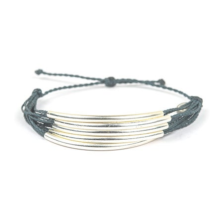 Silver Cuff in Slate by Pura Vida | Eve's Addiction®