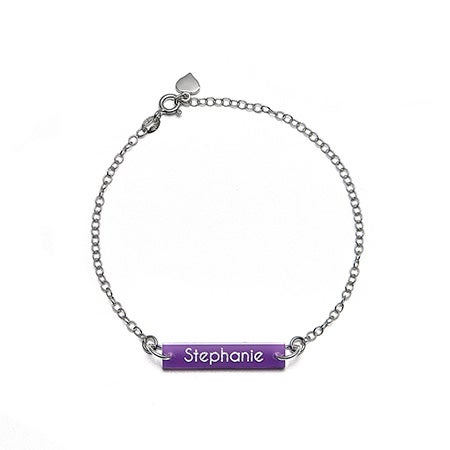 Acrylic Custom Name Bar Bracelet | Eve's Addiction®