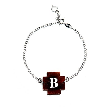 Custom Initial Acrylic Cross Bracelet | Eve's Addiction®