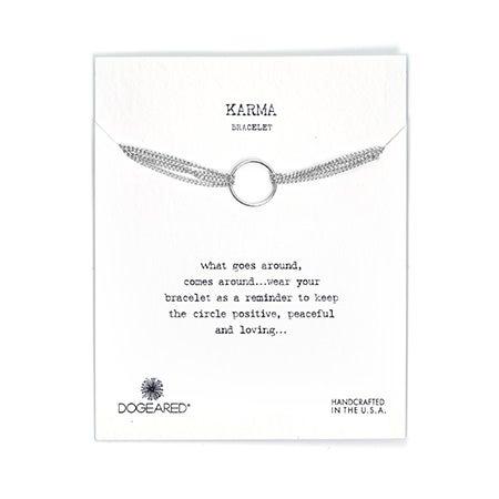 Dogeared Karma Four Strand Sterling Silver Bracelet
