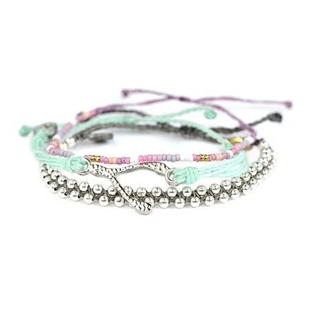 Pura Vida Stackable Bracelet Hawaiian Orchid Pack | Eve's Addiction®