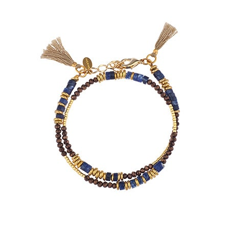 Shashi Farrah Lapis Wrap Bracelet / Choker | Eve's Addiction®