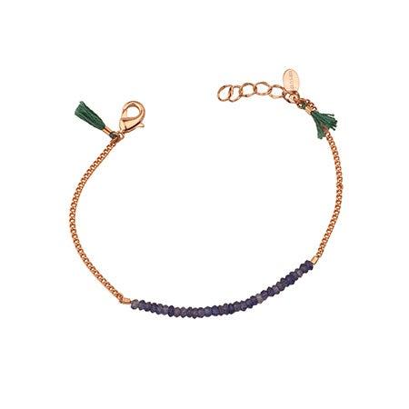 Natasha Iolite Bead Bracelet in Rose Gold by Shashi | Eve's Addiction®