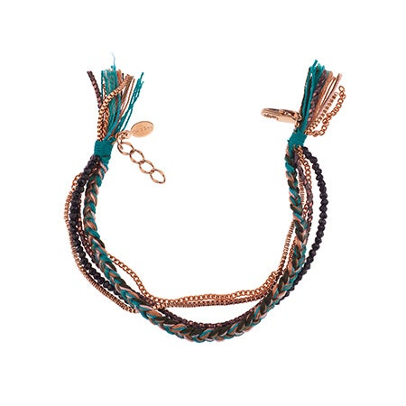 Shashi Maya Five Row Bracelet in Teal | Eve's Addiction®