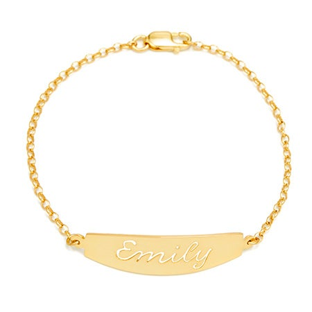Custom Nameplate Gold Bracelet | Custom Name Bracelet