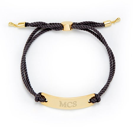 Grey And Gold Engravable Bracelet