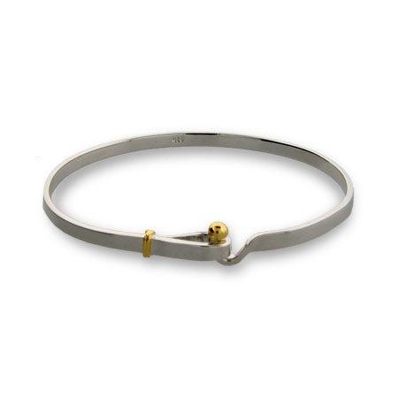 Sterling Silver Hook and Eye Bangle Bracelet | Eve's Addiction®