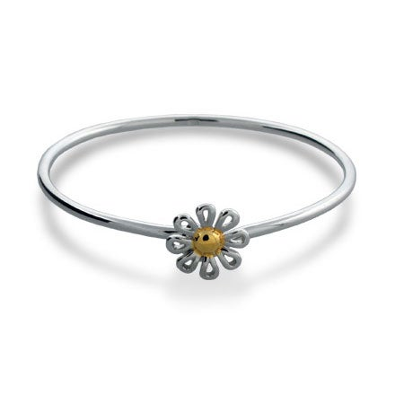 Daisy Bangle in Sterling Silver | Eve's Addiction®