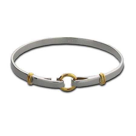 Circle and Loops Bangle Bracelet | Eve's Addiction