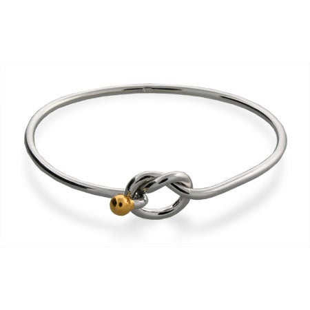 Sterling Silver Love Knot Bangle Bracelet | Eve's Addiction®