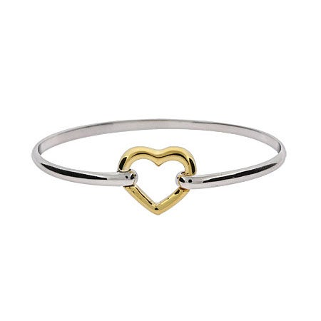 Floating Heart Bangle Bracelet | Eve's Addiction
