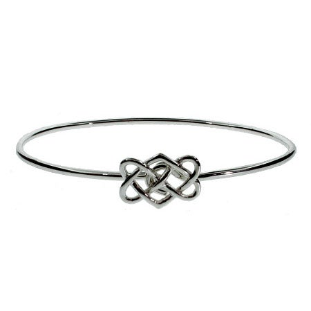 Sterling Silver Celtic Knot Bangle Bracelet | Eve's Addiction