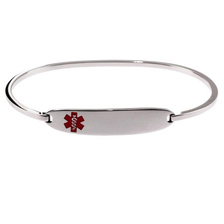 Engravable Medical ID Bangle Bracelet | Eve's Addiction®