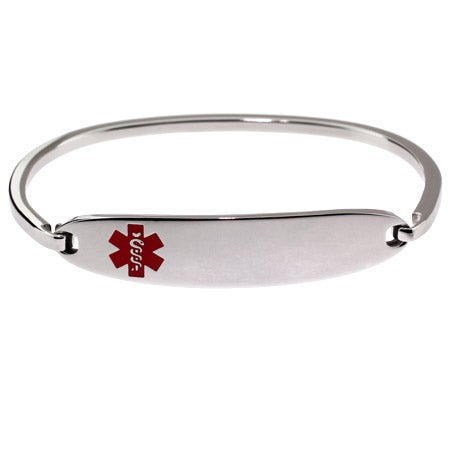 Engravable Children's Medical ID Bangle Bracelet | Eve's Addiction®