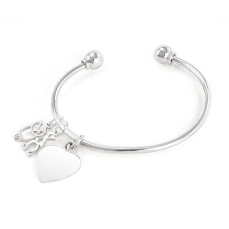 Chi Omega Sterling Silver Charm Bracelet | Eve's Addiction®