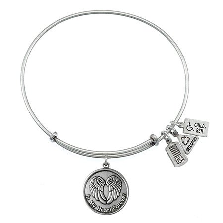 Wind & Fire In My Heart Charm Bangle Bracelet | Eve's Addiction®