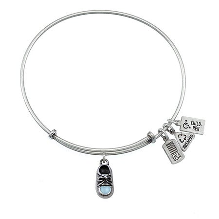 Baby Blue Shoe Charm Wind & Fire Adjustable Bangle | Eve's Addiction®