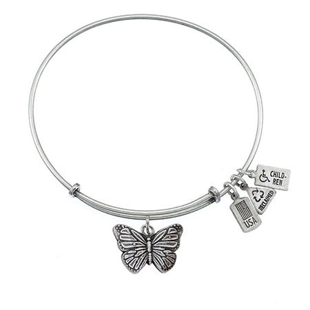 Butterfly Charm Wind & Fire Adjustable Bangle Bracelet | Eve's Addiction®