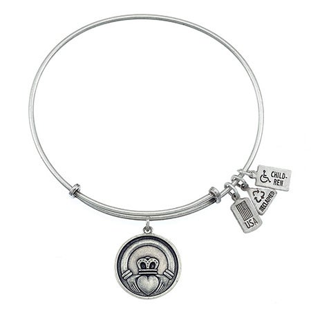 Wind & Fire Claddagh Charm Bangle Bracelet | Eve's Addiction®