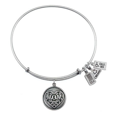 Wind & Fire Mom Charm Bracelet with Silver Finish | Eve's Addiction®
