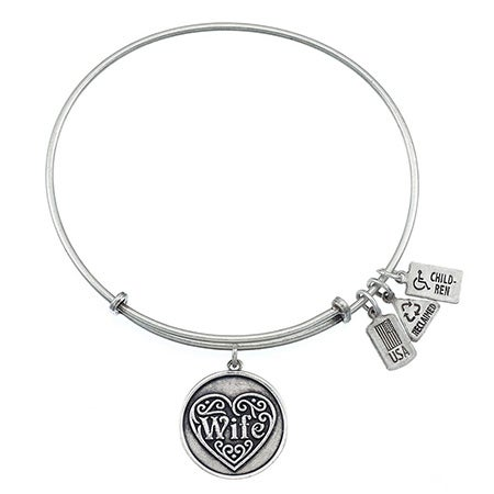 Wind & Fire Wife Charm Bangle Bracelet | Eve's Addiction®