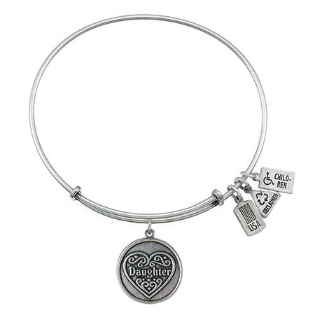 Wind & Fire Daughter Charm Bangle Bracelet | Eve's Addiction®