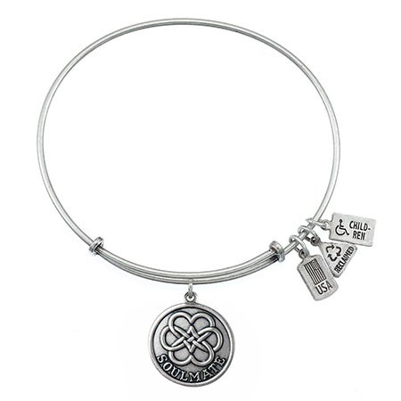 Wind & Fire Soulmate Charm Bangle Bracelet | Eve's Addiction®