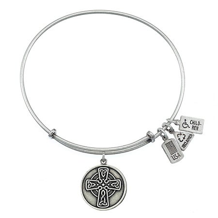 Wind & Fire Celtic Cross Charm Bangle Bracelet | Eve's Addiction®