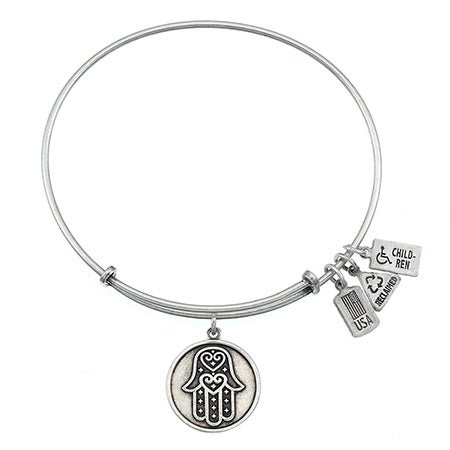 Wind & Fire Hamsa Charm Bangle Bracelet | Eve's Addiction®