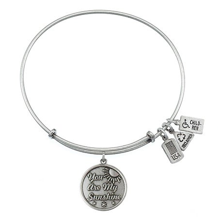 You Are My Sunshine Engravable Bangle Bracelet by Wind & Fire | Eve's Addiction®