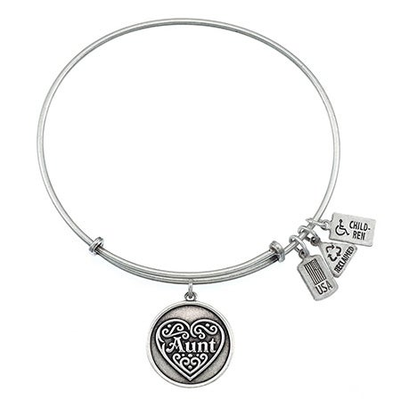 Wind & Fire Engravable Aunt Charm Bangle Bracelet | Eve's Addiction®