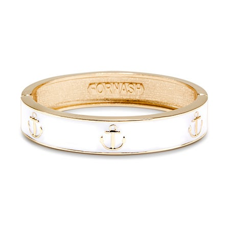 Fornash Anchor Bangle in White