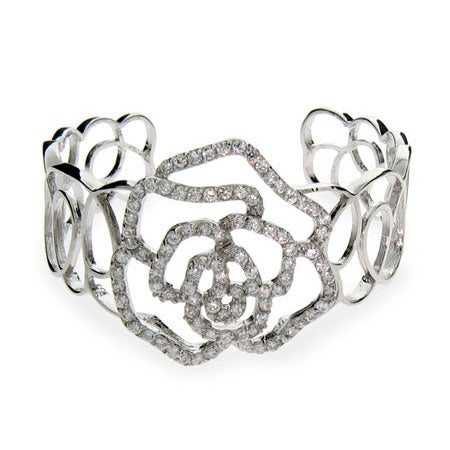Rose CZ Cuff Bracelet | Eve's Addiction®
