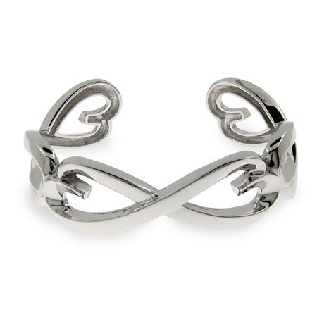 Infinity Hearts Cuff Bracelet in Sterling Silver | Eve's Addiction®