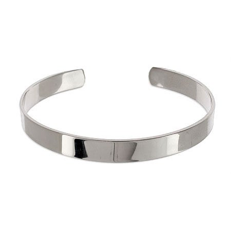 Plain Style Stainless Steel Engravable Cuff Bracelet | Eve's Addiction®