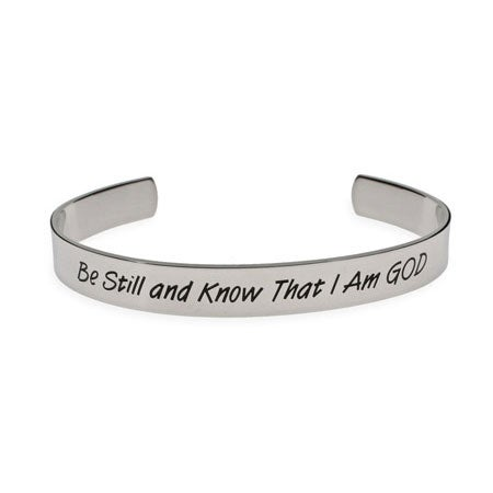 Be Still and Know That I am God Psalm Bracelet | Eve's Addiction®