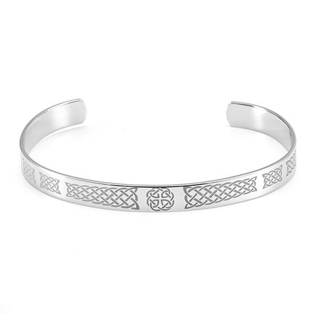 Engravable Celtic Knotwork Cuff Bracelet | Eve's Addiction®