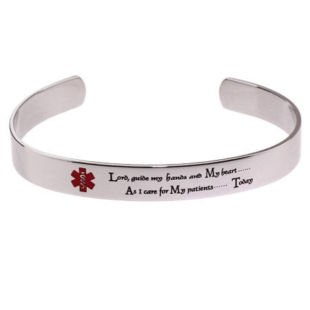 Engravable Nurse's Prayer Cuff Bracelet | Eve's Addiction®