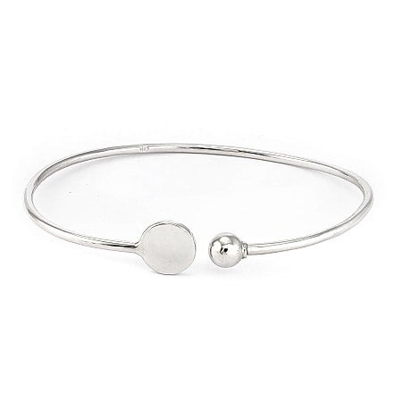 Engravable Silver Signet Cuff Bracelet | Eve's Addiction®