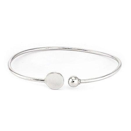 Engravable Silver Signet Cuff Bracelet | Eve's Addiction®