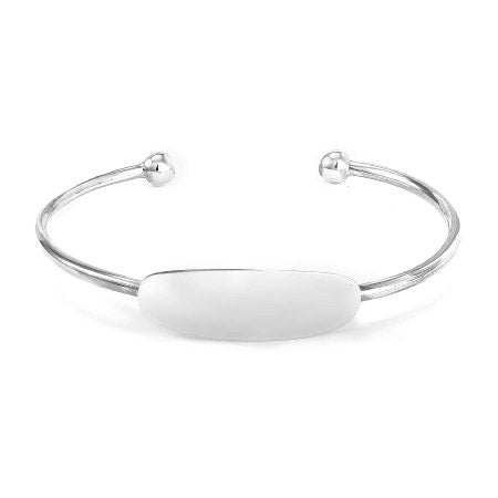 Engravable Sterling Silver Baby ID Cuff Bracelet | Eve's Addiction®