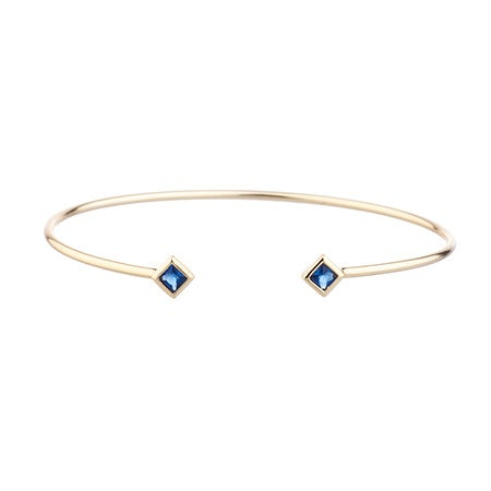 Shashi Rhyan Gold Cuff Bracelet in Sapphire | Eve's Addiction®
