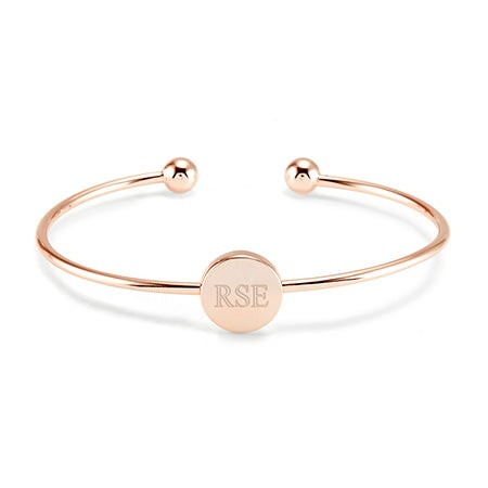Custom Rose Gold Custom Signet Bangle | Eve's Addiction