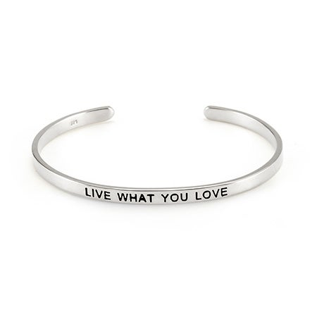 Live What You Love Enamel Bracelet | Eve's Addiction