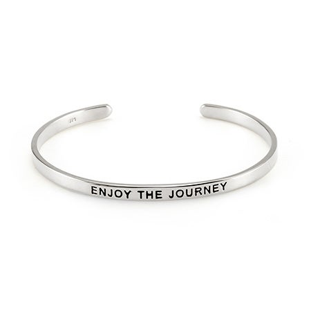 Enjoy The Journey Enamel Message Cuff | Eve's Addiction
