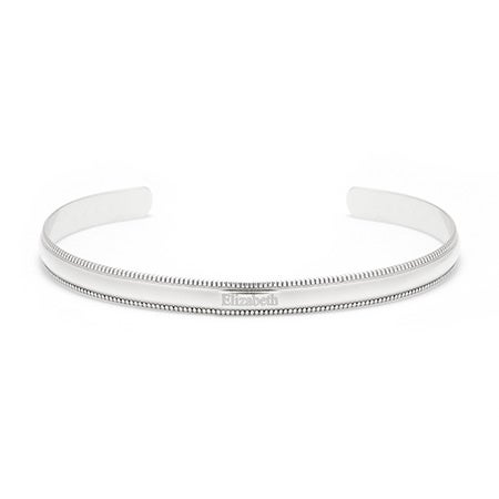 925 Silver Cuff Engraved Name Bracelet | Eve's Addiction