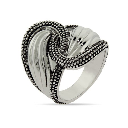 Designer Inspired Decorated Edge Spoon Ring | Eve's Addiction®