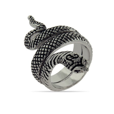 Oxidized Wrapping Snake Ring | Eve's Addiction®